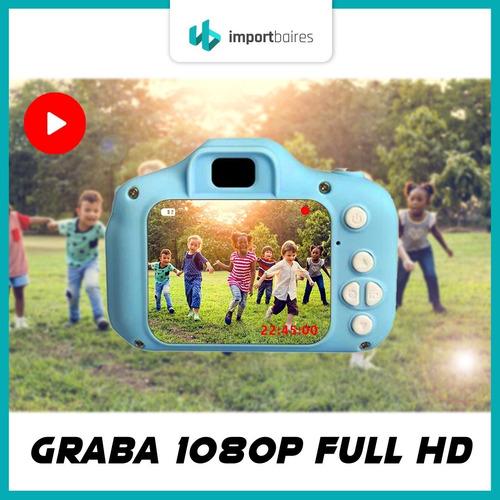 cámara digital hd niños niñas facil uso filma fotos color