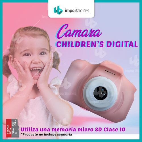cámara digital hd niños niñas facil uso filma usb kids cam