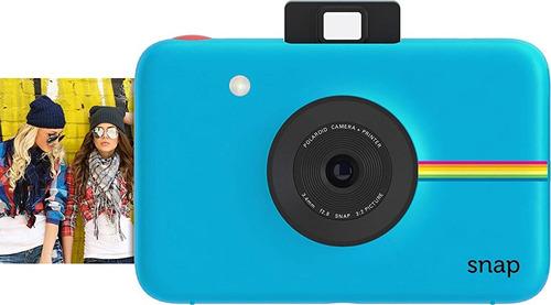 cámara digital instantánea polaroid snap azul con tecnología