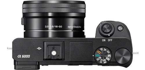 camara digital mirrorless sony ilce-6000 kit lente selp1650 full hd