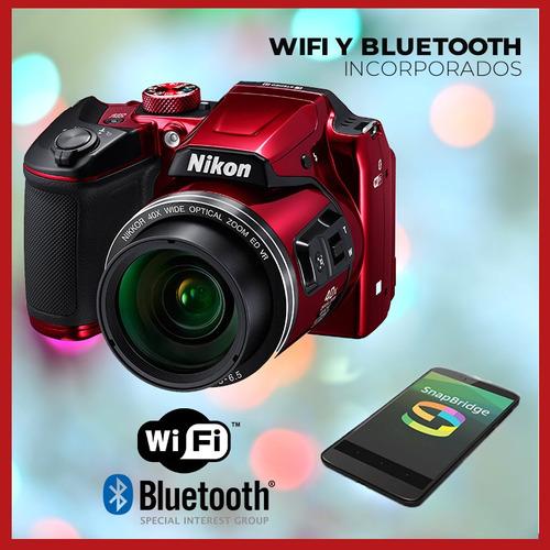 camara digital nikon b500 40x zoom full hd wifi 16mp gtia!