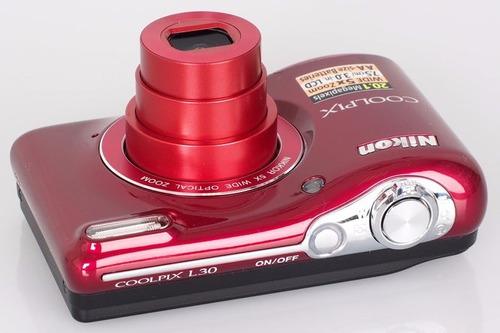 cámara digital nikon coolpix l30  20.1 mp, 5x recertificadas