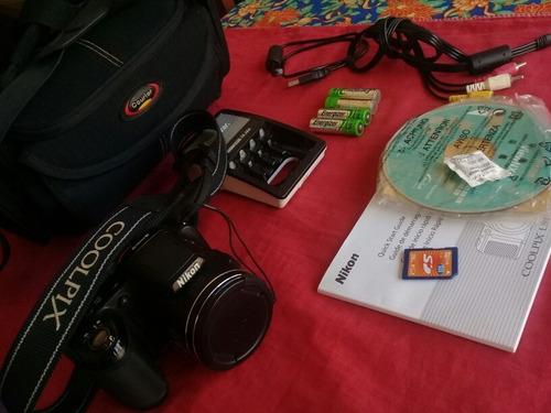 cámara digital nikon coolpix l810 semi profesional + bolso