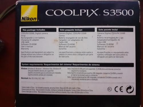 camara digital nikon coolpix s3500