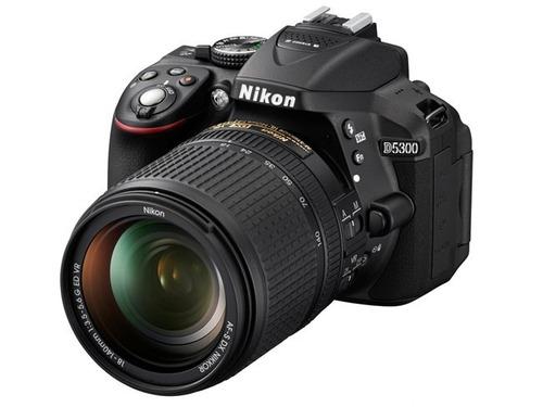 camara digital nikon d5300 kit 18-55 mm 24mp full hd wifi