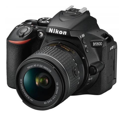 camara digital nikon d5600 24mp lente 18-55 wifi reflex prof