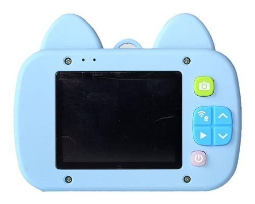 cámara digital niños - con forma de gato azul
