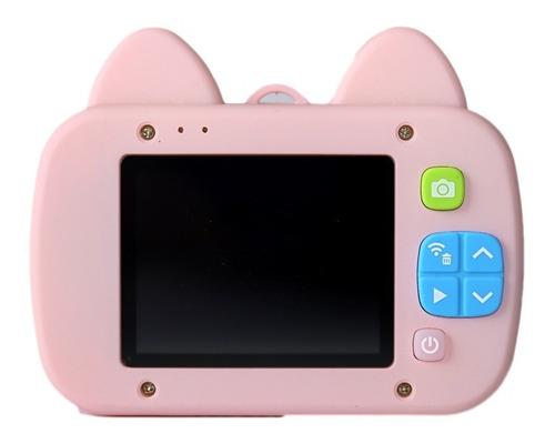 cámara digital niños - con forma de gato rosa