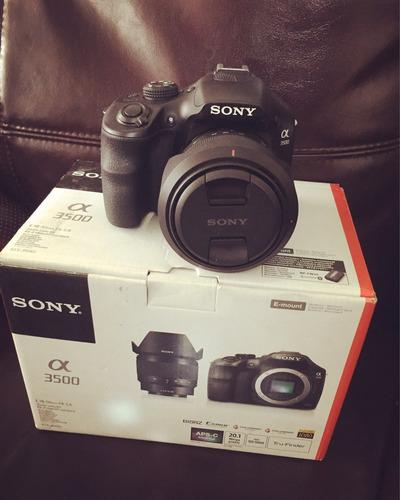 cámara digital profesional alpha a3500 de sony