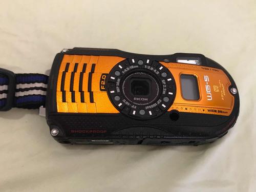 cámara digital ricoh pentax wg-50 con gps 16 megapíxeles
