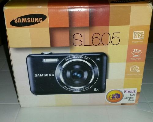 cámara digital samsung sl605 usada en perfecto estado combo