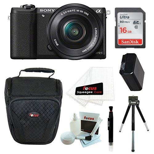camara digital sony alpha a5100 mirrorless camera with 16-50