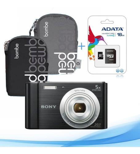cámara digital sony w800 +memoria 16gb y estuche - 20 mpix