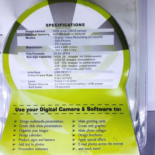 cámara digital  vga