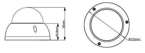 camara domo dahua hdabw1200rnvfs3 2mp lente 2.7-12mm