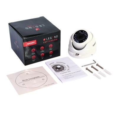 cámara domo epcom 1080p 2 mp gran angular 2.8mm e8-turbo