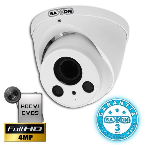 cámara domo hdcvi 4 mega pixeles saxxon pro dvf3640tm
