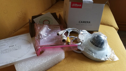 cámara domo ip dahua de 5 mp  dh-ipc-eb5500n ojo de pez