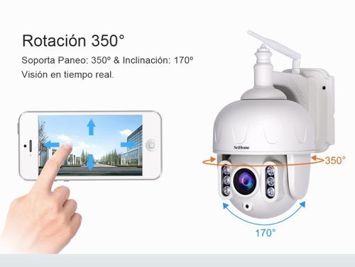 cámara domo ip ptz zoom 5x audio 2 vías visión nocturna 40mt