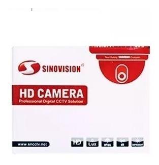 cámara domo metal 4mpx exterior sinovision waterproof