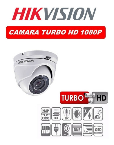 camara domo metalico full hd 1080p 2.0 mpx hikvision 2.8mm
