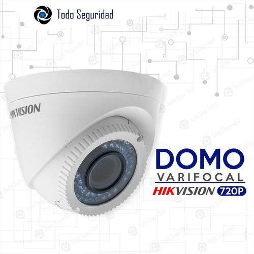 camara domo varifocal hikvision hd 720p 1mp exterior tvi cvi ahd zoom gran angular
