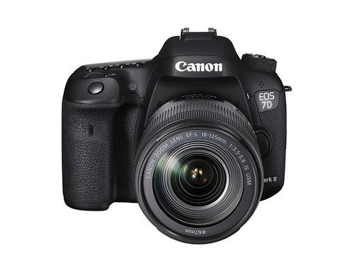 cámara dslr canon eos 7d mark ii con lente ef-s 18-135mm usm