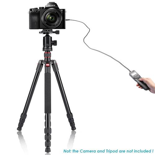 cámara dslr de neewer disparador de liberación con cable lcd