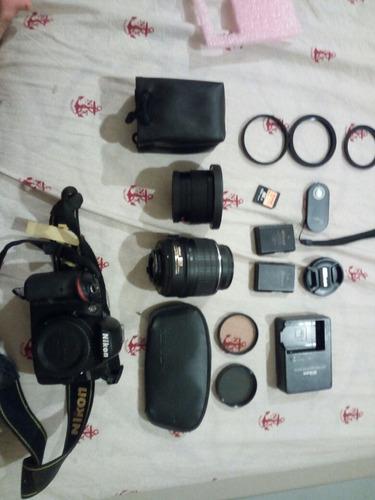 camara dslr nikon d3200 accesorios bateria extra bolso lente