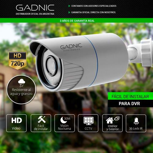 camara dvr gadnic p2p026 720p sensor 30mts noche out cuotas