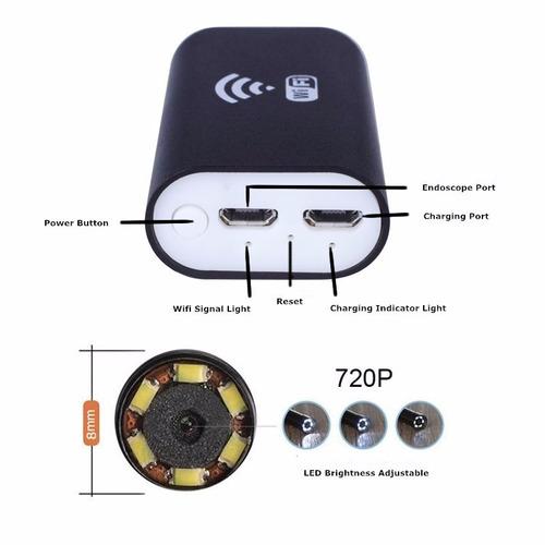 camara endoscopio, luz led,video hd 720p android y iphone