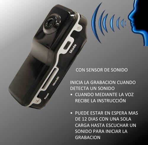 camara espía activa por voz graba vídeo sonido 1ra calidad