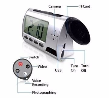 camara espia alarma reloj despertador 32 gb hd mini - te212