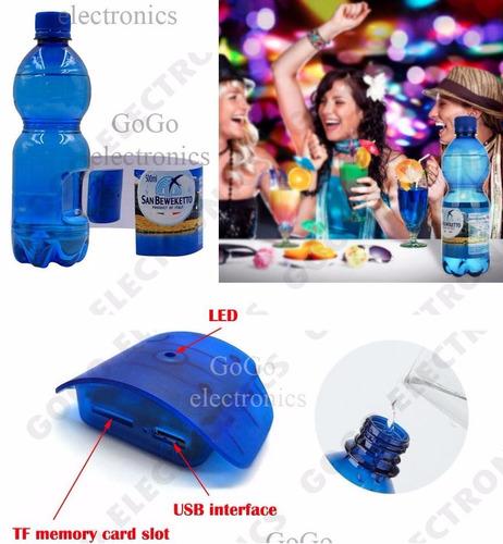 camara espia botella de agua fullhd detector de movimiento