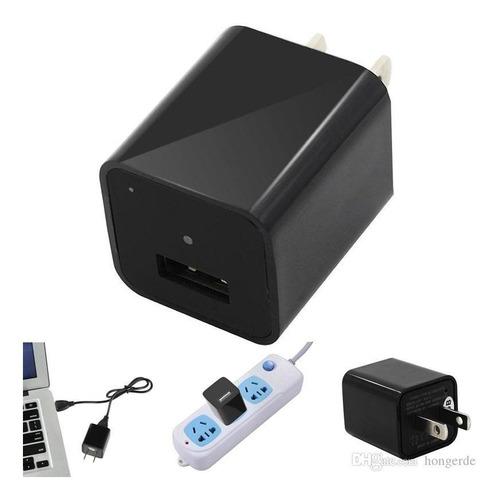 camara espía cargador celular tablet fhd soporta micro sd 32