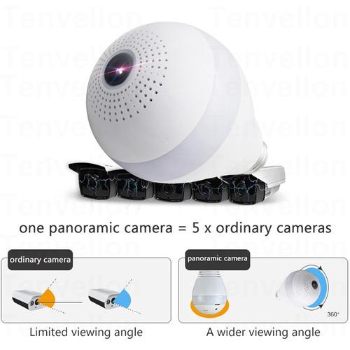 cámara espia foco 360 seguridad inalámbrica wifi envíogratis