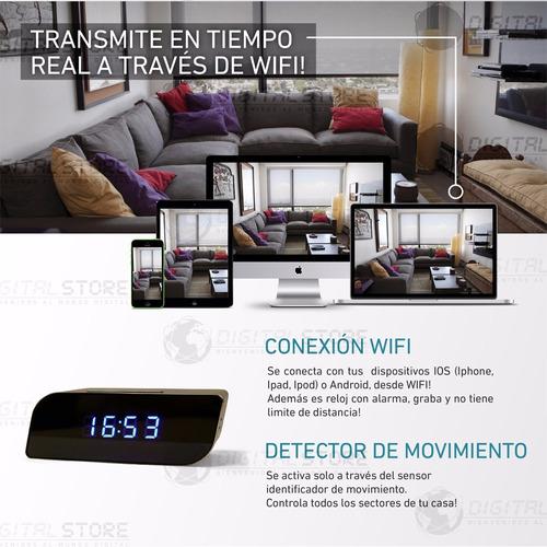 camara espia ip wifi inalambrica seguridad casa oculta reloj