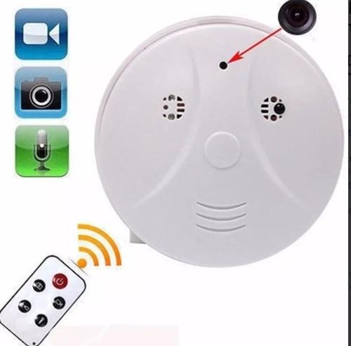 camara espia oculta en detector de humo + control remoto