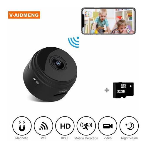 cámara espía oculta inalámbrica mini wifi nanny cam par...