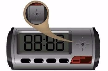 camara espia reloj