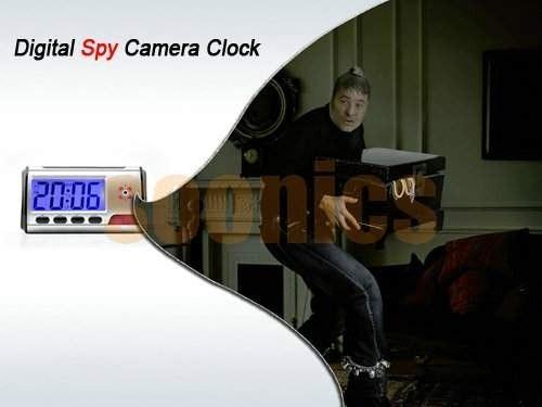 cámara espía reloj digital dvr con sensor de movimiento