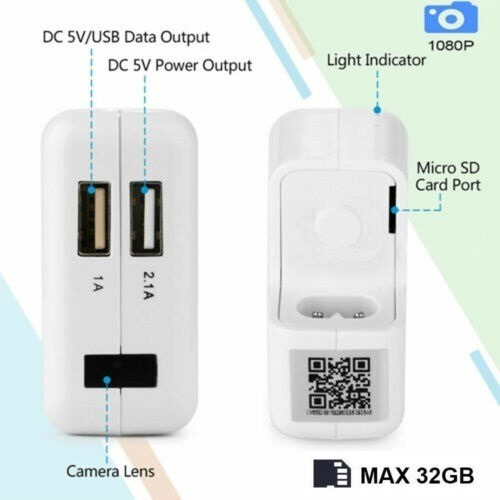 CA//DC Cargador adaptador de fuente de alimentación Cable para Motorola Focus 86 T HD Wi-fi Cámara Cam