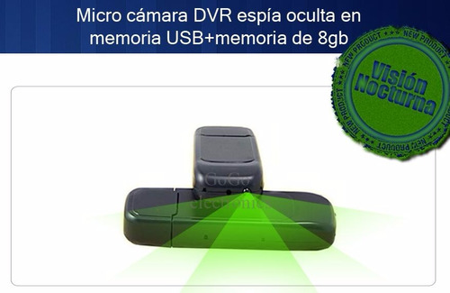 camara espia spy forma usb hd con vision noctura incluye 8gb