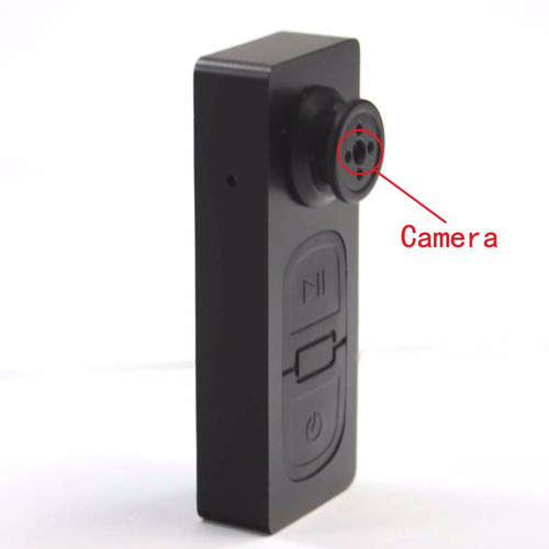 cámara espía tipo botón + micro sd 8 gb incluida - negro