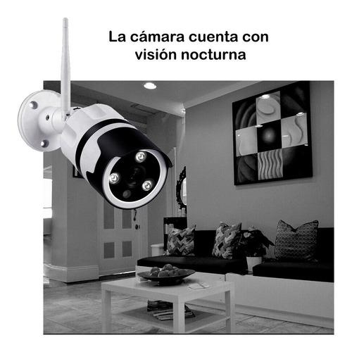 camara exterior ip habla y escucha vision nocturna + sensor