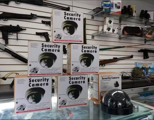 camara falsa de seguridad para vigilancia con led nueva wow
