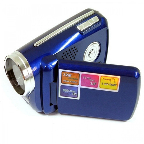 camara filmadora digital 12mp zoom 4x sd compacta pilas gtia