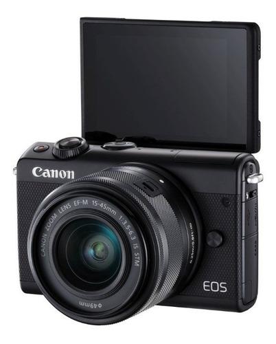 cámara fotográfica canon eos m100 ef-m 15-45mm is stm