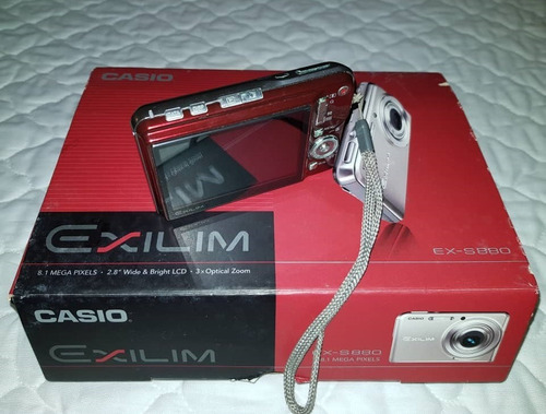 cámara fotográfica casio exilim 8.1 mp