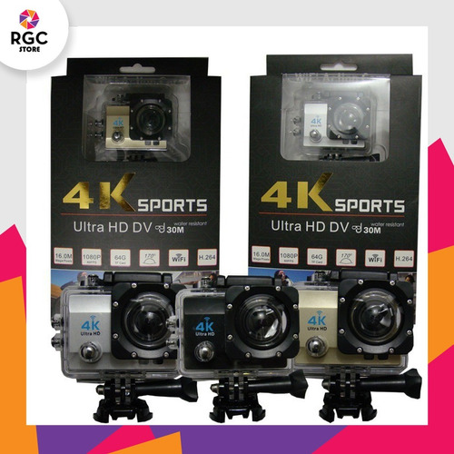 camara fotografica deportiva sumergible 4k wifi foto video